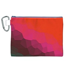 Abstract Elegant Background Pattern Canvas Cosmetic Bag (xl)
