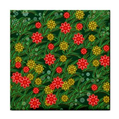 Completely Seamless Tile With Flower Tile Coasters