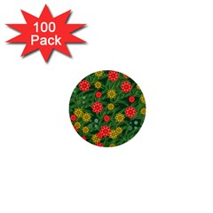 Completely Seamless Tile With Flower 1  Mini Buttons (100 pack)