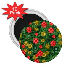 Completely Seamless Tile With Flower 2 25  Magnets (10 Pack)