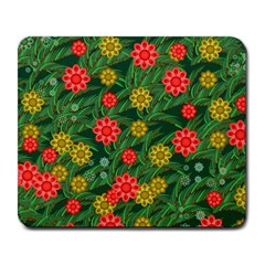 Completely Seamless Tile With Flower Large Mousepads