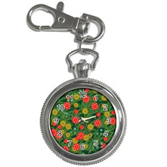 Completely Seamless Tile With Flower Key Chain Watches