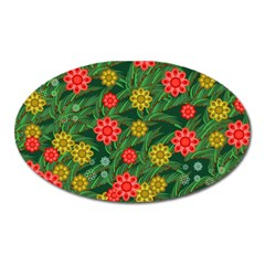 Completely Seamless Tile With Flower Oval Magnet