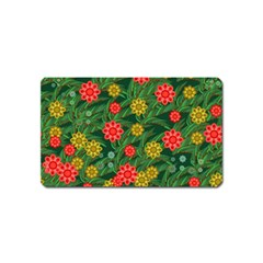 Completely Seamless Tile With Flower Magnet (name Card)