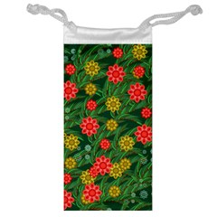 Completely Seamless Tile With Flower Jewelry Bag
