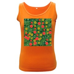 Completely Seamless Tile With Flower Women s Dark Tank Top