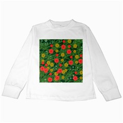 Completely Seamless Tile With Flower Kids Long Sleeve T-Shirts