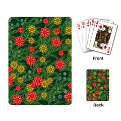 Completely Seamless Tile With Flower Playing Card