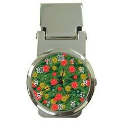 Completely Seamless Tile With Flower Money Clip Watches
