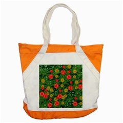Completely Seamless Tile With Flower Accent Tote Bag