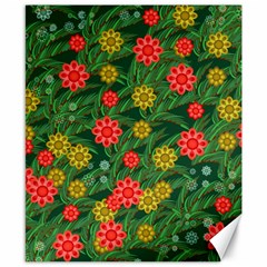 Completely Seamless Tile With Flower Canvas 8  X 10