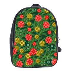 Completely Seamless Tile With Flower School Bags(large)