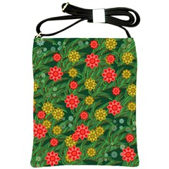 Completely Seamless Tile With Flower Shoulder Sling Bags