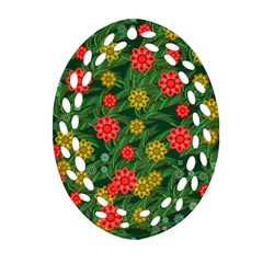 Completely Seamless Tile With Flower Oval Filigree Ornament (Two Sides)