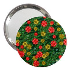Completely Seamless Tile With Flower 3  Handbag Mirrors