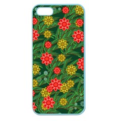 Completely Seamless Tile With Flower Apple Seamless iPhone 5 Case (Color)