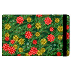 Completely Seamless Tile With Flower Apple iPad 3/4 Flip Case