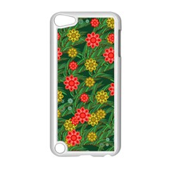Completely Seamless Tile With Flower Apple iPod Touch 5 Case (White)