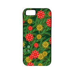 Completely Seamless Tile With Flower Apple Iphone 5 Classic Hardshell Case (pc+silicone)