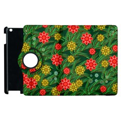 Completely Seamless Tile With Flower Apple iPad 3/4 Flip 360 Case