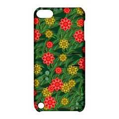 Completely Seamless Tile With Flower Apple iPod Touch 5 Hardshell Case with Stand