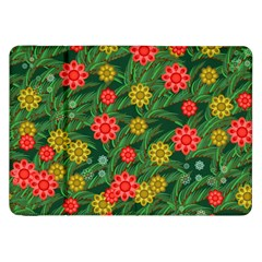 Completely Seamless Tile With Flower Samsung Galaxy Tab 8 9  P7300 Flip Case
