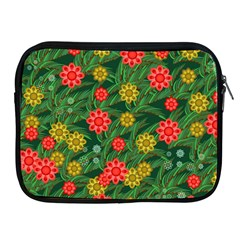 Completely Seamless Tile With Flower Apple Ipad 2/3/4 Zipper Cases