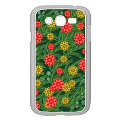 Completely Seamless Tile With Flower Samsung Galaxy Grand DUOS I9082 Case (White)