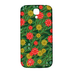 Completely Seamless Tile With Flower Samsung Galaxy S4 I9500/I9505  Hardshell Back Case