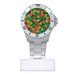 Completely Seamless Tile With Flower Plastic Nurses Watch