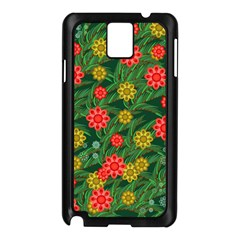 Completely Seamless Tile With Flower Samsung Galaxy Note 3 N9005 Case (Black)