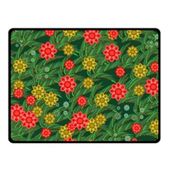 Completely Seamless Tile With Flower Double Sided Fleece Blanket (Small)