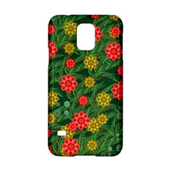Completely Seamless Tile With Flower Samsung Galaxy S5 Hardshell Case