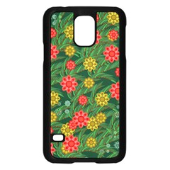 Completely Seamless Tile With Flower Samsung Galaxy S5 Case (black)