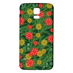 Completely Seamless Tile With Flower Samsung Galaxy S5 Back Case (White)