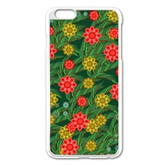 Completely Seamless Tile With Flower Apple iPhone 6 Plus/6S Plus Enamel White Case