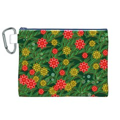 Completely Seamless Tile With Flower Canvas Cosmetic Bag (XL)