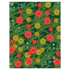 Completely Seamless Tile With Flower Drawstring Bag (Large)