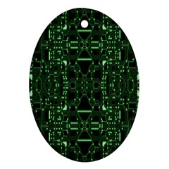 An Overly Large Geometric Representation Of A Circuit Board Ornament (Oval)