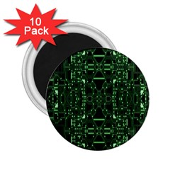 An Overly Large Geometric Representation Of A Circuit Board 2.25  Magnets (10 pack)