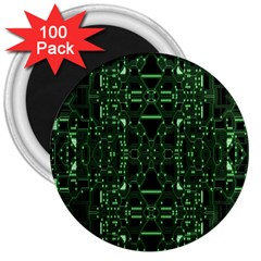 An Overly Large Geometric Representation Of A Circuit Board 3  Magnets (100 Pack)