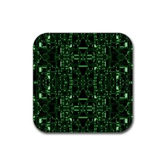 An Overly Large Geometric Representation Of A Circuit Board Rubber Coaster (square)