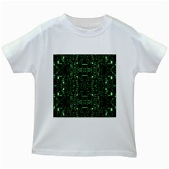An Overly Large Geometric Representation Of A Circuit Board Kids White T-Shirts