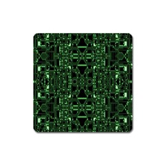 An Overly Large Geometric Representation Of A Circuit Board Square Magnet