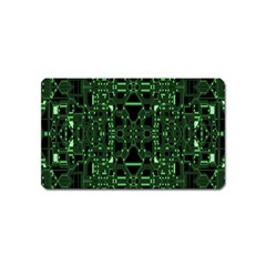 An Overly Large Geometric Representation Of A Circuit Board Magnet (Name Card)