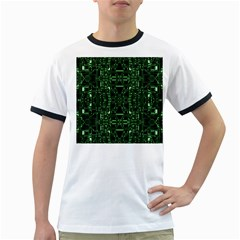 An Overly Large Geometric Representation Of A Circuit Board Ringer T-Shirts