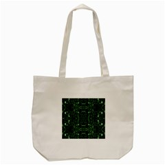 An Overly Large Geometric Representation Of A Circuit Board Tote Bag (cream)