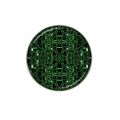 An Overly Large Geometric Representation Of A Circuit Board Hat Clip Ball Marker (4 Pack)