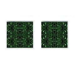 An Overly Large Geometric Representation Of A Circuit Board Cufflinks (square)
