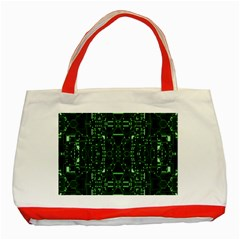 An Overly Large Geometric Representation Of A Circuit Board Classic Tote Bag (Red)